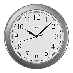 Equity by La Crosse 25206 10 Inch Silver Analog Quartz Wall Clock