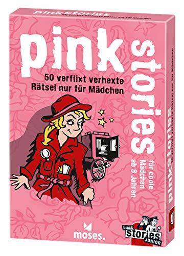 moses. black stories Junior pink stories | 50 verflixt verhexte Rätsel | Das Rätsel Kartenspiel nur für Mädchen