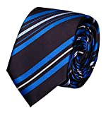 Fabio Farini Gestreifte Krawatte 6cm Breite in verschiedenen Farben für Büro Verein Hochzeit Weihnachten schwarz blau weiß