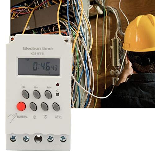 Temporizador programable Interruptor de tiempo programable 1 minuto a 168 horas Proyectos de electrónica de construcción KG316T-II para aplicaciones industriales