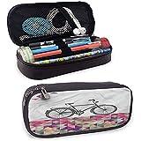 Estuche de lápices geométrico, bolsa de tamaño perfecto de mosaico para bicicleta sobre papelería y utensilios de arte