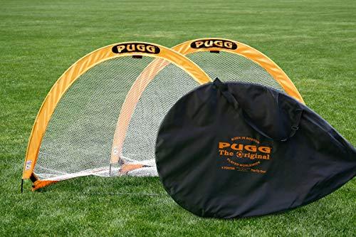 PUGG Mobile Fußballtore 2er-Set, Farbe gelb, Modell groß