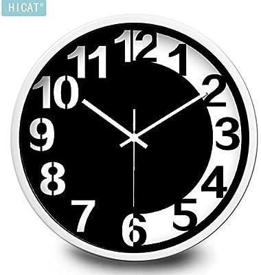 FortuneVin Wall Clock Non-Ticking Number Quartz Wall Clock Living Room Decorative Indoor Clock Bedroom