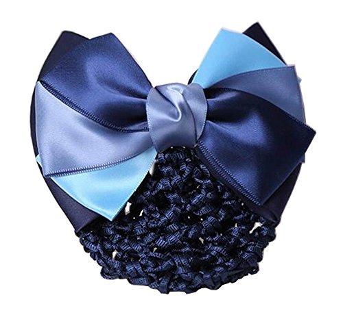 Elegant Ladies Snood Net Barrette Hairnets Housse de cheveux, Bleu #01