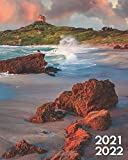 2021-2022: Exotic Sand Beach Two Year 24-Months Weekly Planner Agenda Calendar Organizer with Useful Features