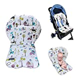 High Chair Cushion,High Chair Pad,Baby High Chair Seat Cushion Liner Mat Padding Cover Protection Pad Unisex(White Lion)
