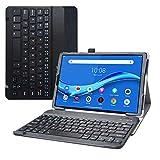 LiuShan Tab M10 Plus Bluetooth Teclado Funda, Detachable Bluetooth Teclado PU Cuero con Soporte Caso para 10.3' Lenovo Tab M10 Plus/Tab M10 Plus 2nd Gen/Smart Tab M10 Plus Tablet,Negro