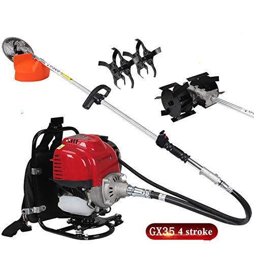 CHIKURA Gx35 Mochila 4 Tiempos 3 in1 Desbrozadora sembradora cortadora de setos cultivadora Weeder Motosierra