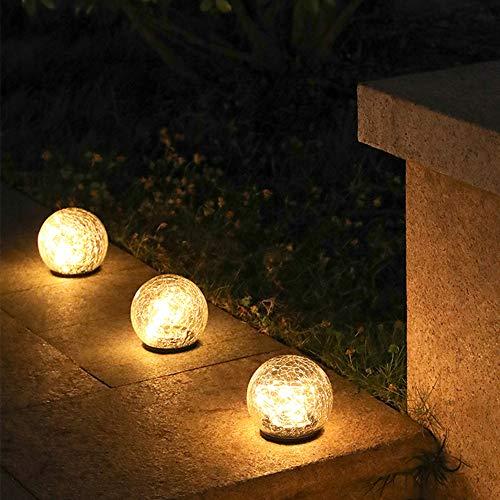 Lámpara de Bola de Cristal de Grieta Solar, Lámpara de Suelo de...