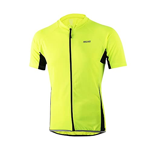 c98a69f2a ARSUXEO Men s Cycling Jersey Short Sleeves Slim Fit Bike Bicycle MTB Shirts  632