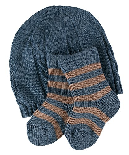 FALKE Kinder Socken Giftset, Wolle/Kaschmirmischung, 1 Stück, Blau (Thistle 6083), Größe: 62-68