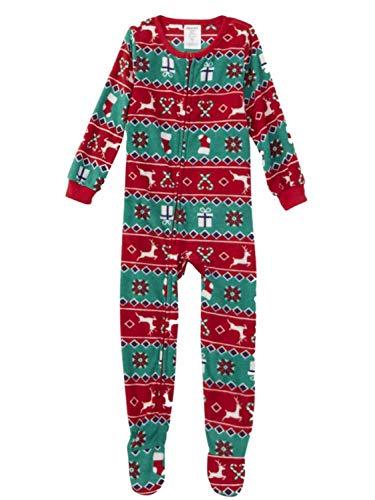 Joe Boxer Infant & Toddler Boys Red & Green Christmas Fleece Sleeper Pajamas 3T