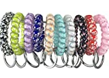 YAKA 20PCS Mix-colour Plastic Stretchable Spring Coil Key Chain-Spiral Coil Wrist Keychain for Office, Workshop, Shopping Mall, Sauna and Outdoor Activities Place (5)