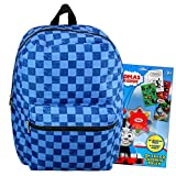 Kids Backpack 16 Inch Bundle Includes Thomas the Train Coloring Stickers Set