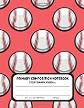 Primary Composition Notebook - Story Paper Journal: Dotted Midline and Picture Space | Grades K-2 School Writing Exercise Book | Dinosaur (Kids Baseball Composition Notebooks)