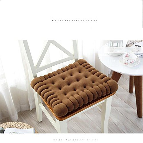 SQINAA Keks-Design verdickung sitzkissen,Lumbale unterstützung Kissen sitzkissen für zuhause Office Fahrzeuge Tatami Indoor Outdoor-stuhlkissen-B 40x45cm(16x18inch) 40x45cm(16x18inch)