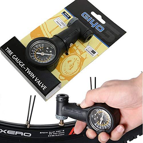 Bicycle Accurate Tire Pressure Gauge 160 PSI Presta Schrader Compatible Dual-Valve Presta and Schrader Bike Valves