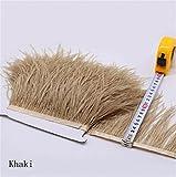Flecos de plumas de avestruz de 34 colores para hacer sombreros o vestidos caqui
