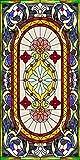 Vinilo Ventana Electroestatico Ventanas de la Iglesia Vinilos Cristales para Privacidad Película Adhesiva Deslustrado ,Facíl Desmontar y Reutilizar de Baño Cocina Oficina Anti UV.44.5 x 200 cm