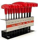 Bastex 10pc Metric T-Handle Hex Key Allen Wrench Tool Set...