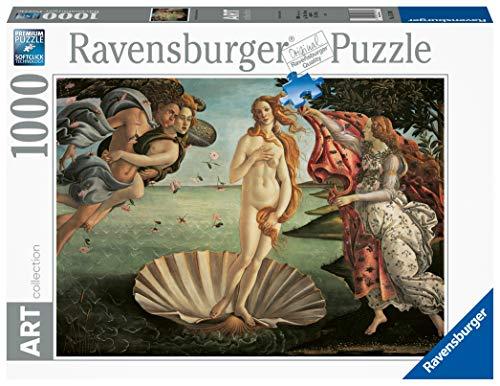 Ravensburger Nascita di Venere, Botticelli 1000 Pezzi Art Collection Puzzle per Adulti, Premium Puzzle con tecnologia Softclick, Età Consigliata 14+