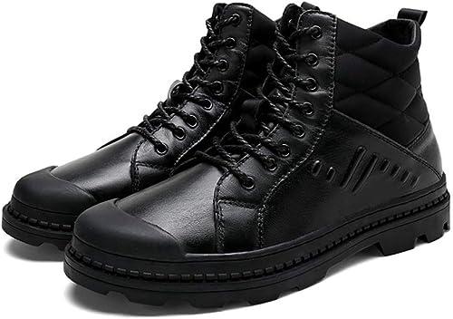 WEGCJU De Plus Velours Bottes Haut-Dessus Martin Bottes Hommes Hommes Hommes Glisser des Chaussures De Randonnée Portent des Bottes Chaudes 16f