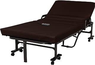 アイリスオーヤマ ベッド 折りたたみベッド 電動ベッド シングル 収納  高反発 リクライニング ハイタイプ ブラウン OTB-KDH