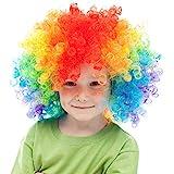 Skeleteen Colorful Clown Costume Wig -...