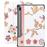 Funda para Galaxy Tab S7 Funda Delgada y Liviana con Soporte para Tableta Samsung Galaxy Tab S7 de 11 Pulgadas Sm-t870 Sm-t875 Sm-t878 2020 Release, Cherry Blossoms Icons Set Vector de ilustración