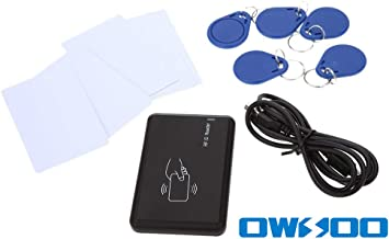 KKmoon Contactless 14443A IC Card Reader with USB Interface 5pcs Cards + 5pcs Key Fob 13.56MHZ RFID