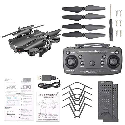 funnyfeng - Aviones teledirigidos (dron abatible 4K, colocación de precisión Inteligente Doble, fotografía de Vuelo atrás, Mando a Distancia CS-7 de Cuatro Ejes)