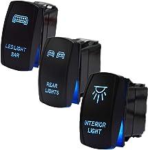 Green Rocker Switch 20 A 12 V Polaris RZR Maverick commandant DEL Interrupteur de lumière partie
