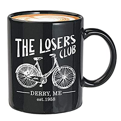 Horror Movie Coffee Mug 11 Oz - The Losers Club - Inspired Quotes Film Cinema Film Book Mystical Pennywise The Dancing Clown Derry Actor Actress Fan White Mug