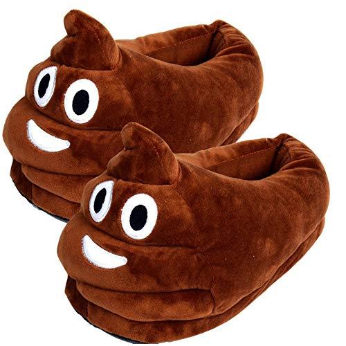 GLEYDY Kreative Lustige Kacke Emoji Hausschuhe Herren Damen, Unisex Winter Cartoon Hause Pantoffeln Plüsch Slipper Wärme Hausschuhe