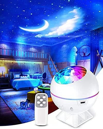 Led Sternenhimmel Projektor yijiahome Sternenlicht Projektor 360° Drehbar mit Fernbedienung, Timer für Geschenke Erwachsene Kinder Schlafzimmer Feier Autodekoration