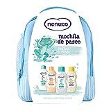 Nenuco Pack Bebé Mochila de Paseo color azul, contiene colonia, jabón, champú y leche hidratante,...