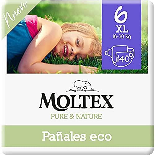 Moltex Pure & Nature Öko-Windeln Größe 6 (17-28 kg) - 140 Windeln