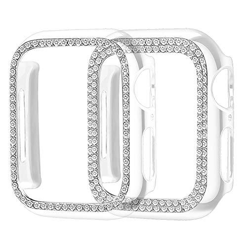 Supoix - Funda Protectora para Apple Watch de 38 mm, 40 mm, 42 mm, 44 mm, 2 Unidades