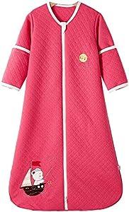 Saco de dormir para bebé, para todo el año, de algodón, con forro interior, para recién nacidos, 110 cm/18 – 36 meses, color rojo rosado