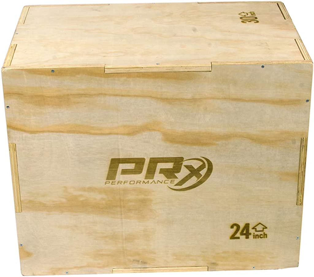 Plyometric Jump Training and Conditioning Box for All Athletes Soft Foam 16//18//24 Soft Foam 20//24//30 and Wood 20//24//30 PRx Performance 3-in-1 Plyo Boxes