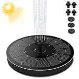 Solar Fountain, 2.2W Solar Bird Bath Fountain with 7 Easy Install Nozzle and Fixer, Free Standing Floating Solar Powered Fountain Pump for Bird Bath, Garden, Pond, Pool, Outdoor(stable version)