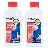Equate - Antacid/Anti-Gas Liquid - Maximum Strength, Cherry Flavor, 12 fl oz (Pack of 2)