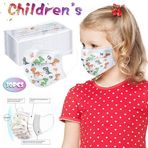 Niños Protección 3 Capas Transpirables con Elástico para Los Oídos Pack10/20/50/100 unidades para Niños y Niñas