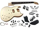 Solo SG Style DIY Guitar Kit, Basswood Body, Flamed Maple Top