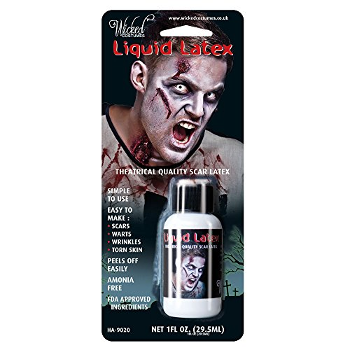 Latex Liquide Wicked Brand 29,6ml Maquillage pour Déguisement Wicked Latex Liquide 10z