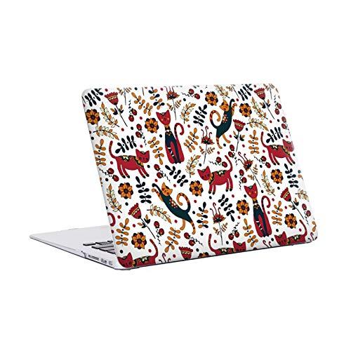 Head Hülle Designs Offizielle Julia Badeeva Katze Tiermuster 3 Harte Durchsichtige Handyhülle Hülle Huelle kompatibel mit MacBook Air 13