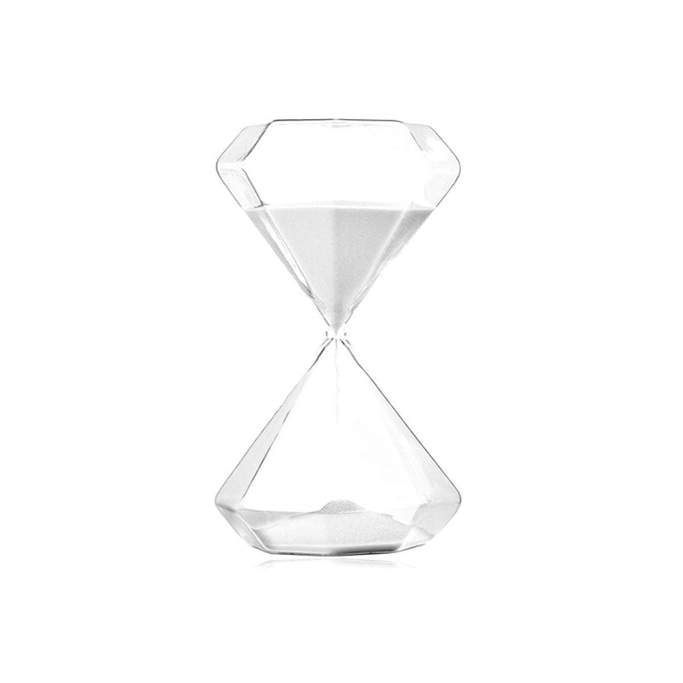 クリアマイクマイルストーンKPSRB 砂時計は、クリエイティブギフト/ホームデコレーション/休日誕生日ギフト//ガラスタイマー(5/15/30分を時間指定が可能)を使用することができます 砂時計 (Color : White, Size : S-5min)