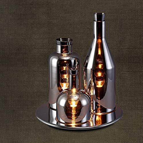 HYY-YY Persoonlijkheid Simple Creative Design Drie in Glas tafellampen, slaapkamer bedlampje, Chrome persoonlijkheid Reading Night Light