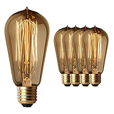 Edison Light Bulbs (4 pack) Squirrel cage filament with vintage look