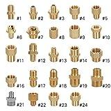 G-Gewinde ~ M-Gewinde Hochdruckreiniger Adapter, aus Messing, männlich auf weiblich, Auslaufschlauch